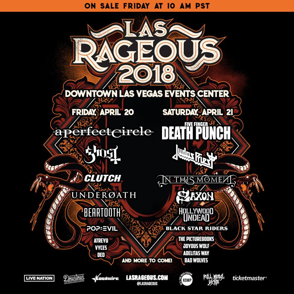 A Perfect Circle Five Finger Punch Ghost Judas Priest And More Set For 2018 Las Rageous Festival