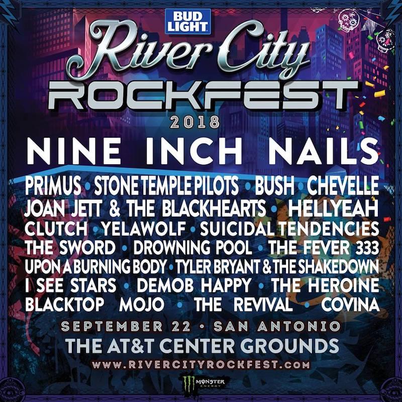 Nine Inch Nails to headline River City Rockfest in September – Live ...